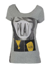 Bench Damen T-Shirt Playinghard Grey Marl Gr S-L