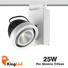 Foco Carril Binario SHARP Trifasico 25W Blanco Natural Calido 25º 220V 0853/0930