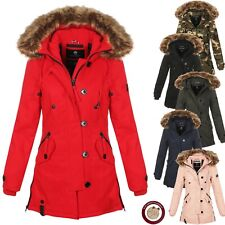 Navahoo Damen Winter Mantel Jacke Parka Wintermantel Fellkragen Warm NEU PAULINE