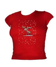 Festive Reindeer - Glow in The dark - Rudolph Glow LADIES Christmas T-shirt