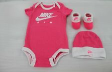 NIKE JORDAN 3 PIECE INFANTS SET PINK sz...0-6 MONTHS BNIB