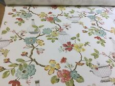Edinburgh Weavers CASSIA Floral Cotton Fabric, Upholstery/Curtains/Cushions