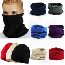MENS LADIES UNISEX POLAR FLEECE NECK WARMER SNOOD SCARF SKI MOTORBIKE MASK
