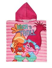 Trolls Children Kids Hooded Towel Poncho 100% Cotton