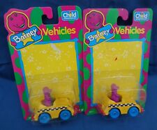 1993 Child Dimension set of 2 Diecast Barney & Friends NEW Taxi Cab