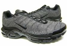 Nike Air Max Plus Quilted Wool Tn Tuned 1 Dark Grey Black Mens Trainers