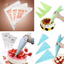 3 Sizes Silicone Reusable Icing Piping Cream Pastry Bag Cake Decorating DIY Tool