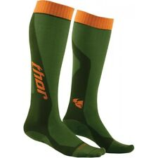 Thor MX Cool Socks Motocross Enduro Kniestrümpfe Socken grün/orange