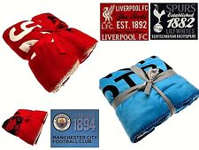 OFFICIAL LICENSED FOOTBALL CLUB CRESTED LARGE SHERPA FLEECE BLANKET THROW COVER