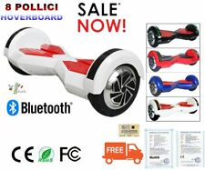 "8"" Bluetooth Smart Hoverboard E-Balance Scooter Elettrico E-Skateboard LED LK"