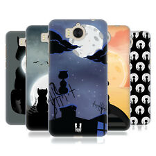HEAD CASE DESIGNS CAT AND MOON HARD BACK CASE FOR HUAWEI Y6 (2017) / NOVA YOUNG
