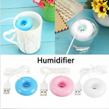 USB Mini Donut Humidifier Air Purifier Aroma Diffuser Office Home Car Portable