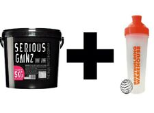 BLOCCO PROTEINE SERIO gainz 5KG Weight Gainer del siero di latte massa + GRATIS