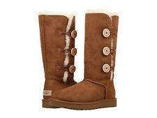 Women's Shoes UGG Bailey Button Triplet II Boots 1016227 Chestnut *New*