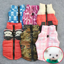 Puppy Pet Small Dog Cat Soft Padded Vest Harness Jacket Coat Hoodie Warm Clothes
