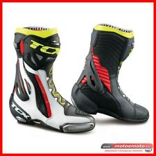 Stivali Moto Tcx RT Race Pro Air Bianco Rosso Giallo Fluo Pista Racing