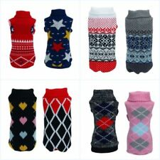 Small Pet Dog Winter Knit Jumper Clothes Puppy Cat Sweater Warm Coat Jacket Lots