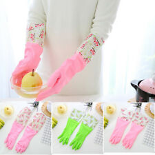 Rubber Waterproof Reusable Dish Washing Long Gloves  Kitchen Cleaning 0143