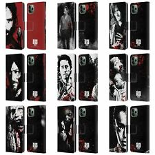 OFFICIAL AMC THE WALKING DEAD GORE LEATHER BOOK CASE FOR APPLE iPHONE PHONES