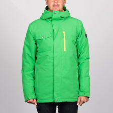 Quiksilver 'Mission Solid' Snowboard Jacket. Kelly Green.