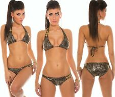TRIANGOLO BIKINI LACCIO AL COLLO PUSH UP BRAZIL CATENA Monokini Tankini