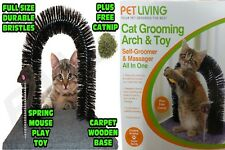 Cat Grooming Arch Toy- Self Groomer & Massager All in One Pet