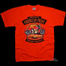 Classic Motorcycle Biker Vintage Harley Theme Motorcycle T-Shirt 4253 OR