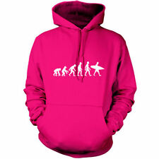 EVOLUTION OF MAN SURF Sudadera Capucha Unisex - Con Capucha/Divertido SURFERO