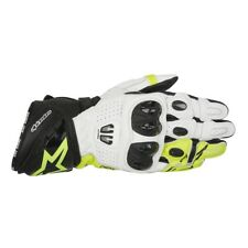 Alpinestars GP Pro R2 Mens Motorcycle Sport Black White Fluo Leather Gloves