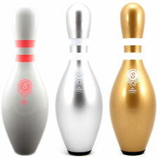 bowling pin strikemaker in bianco, Argento, Oro, pokale-auch COME Set, Palla