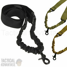 Adjustable Single Point Rifle Sling Bungee Tactical Airsoft AEG Gun Strap 1 One