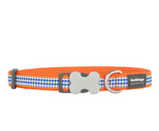 RED DINGO Orange Fang-It (Dogtooth) Dog Collar, Sizes M and L