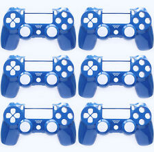 6 x Custom Blue Playstation 4 Controller Faceplate Shell PS4 Slim Version 2