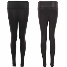 Womens Faux Leather Wet Look Stretchy Shiny legging High Waist Tight Pants