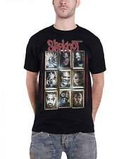 Slipknot T Shirt Masks band logo Gray Chapter officiel Homme