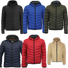 Mens Brave Soul Puffer Bubble Threadbare Hooded Quilted Padded Jacket Coat