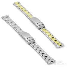 Fits 14mm to 16mm Ladies Stainless Steel Centre Clasp Watch Strap Band Bracelet
