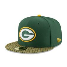 NEW ERA 59FIFTY FITTED CAP. ON FIELD NFL SIDELINE. GREEN BAY PACKERS