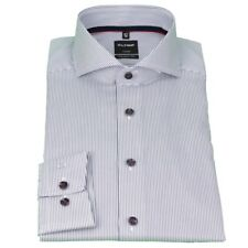 Olymp Hombre Luxor Modern Fit Camisa Azul Blanco Rayas 1308 14 18
