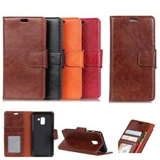 Premium PU Leather Wallet Card Case Magnetic Flip Stand Cover For Various Phones