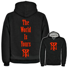Mens Scarface The World Is Yours Hoodie Tony Montana Gangsta Logo Movie Mafia