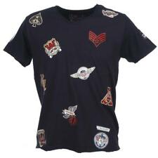Tee shirt manches courtes Crossby Patch navy mc tee Bleu 58424 - Neuf