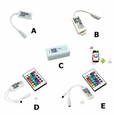LED RGB or RGBW Led Light Strip Controller Driver WIFI 2.4GHz Dimmer Music