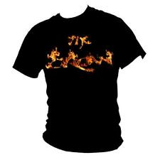 "THE CROW BRANDON LEE "" Burning CORVO "" CULTO Film FIAMMA T-Shirt Uomo"