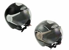 GSB Motorcycle Scooter Classic Traditional DVS Open Face Helemt G247 With Visor