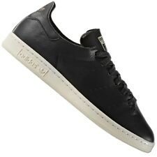 ADIDAS ORIGINALS STAN SMITH Lea CALCETÍN ZAPATILLAS piel botas negras 39 1/3GB
