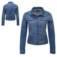 Pieces Damen Jeansjacke Übergangsjacke Denim Blouson Casual Used Look NEU