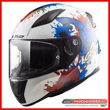 Ls2 Casco Moto FF353 Rapid Mini Monster Blue Integrale Junior Bimbo