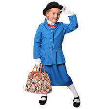 CHILDS MAGICAL NANNY COSTUME BOOK + FILM CHARACTER VICTORIAN FANCY DRESS KIDS