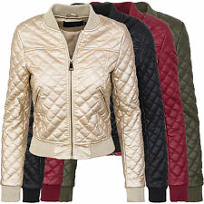 Donna Giacca Bomber in similpelle TRANSIZIONE Blousen finta pelle d-299 NUOVO